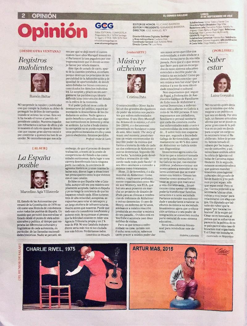 El Correo Gallego - 21/09/2015