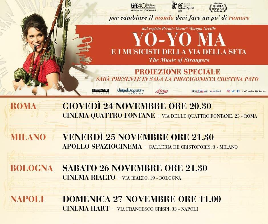 The Music of Strangers Italian Promo Tour