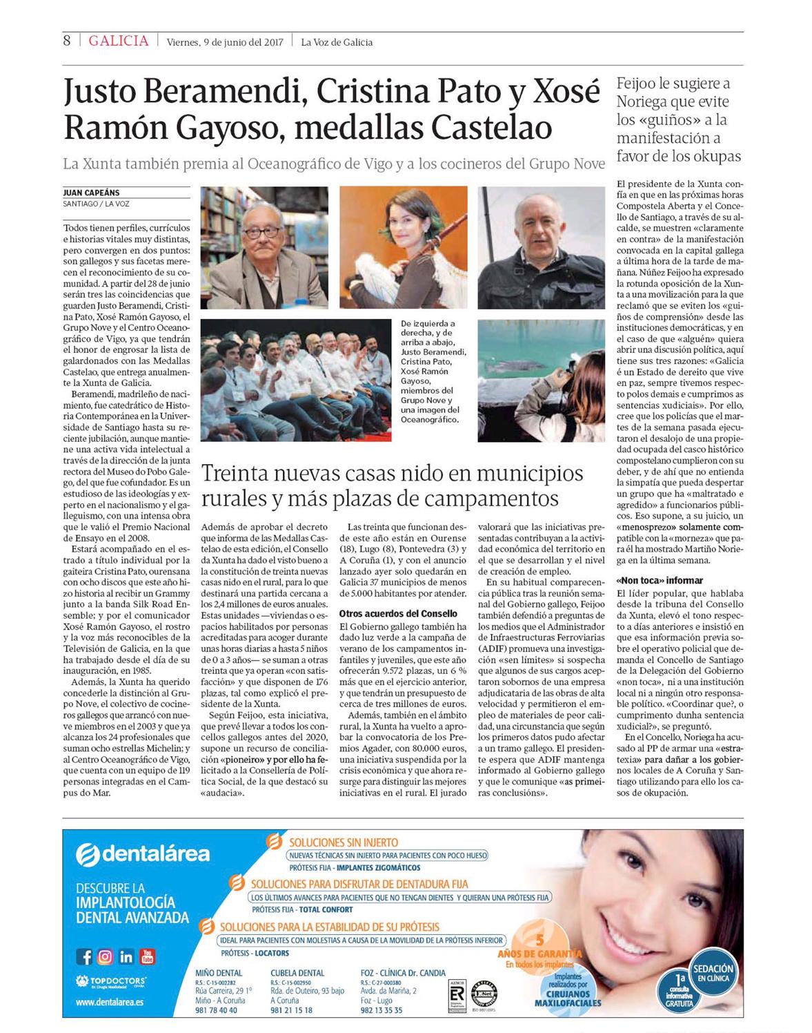 La Voz de Galicia 09/06/2017