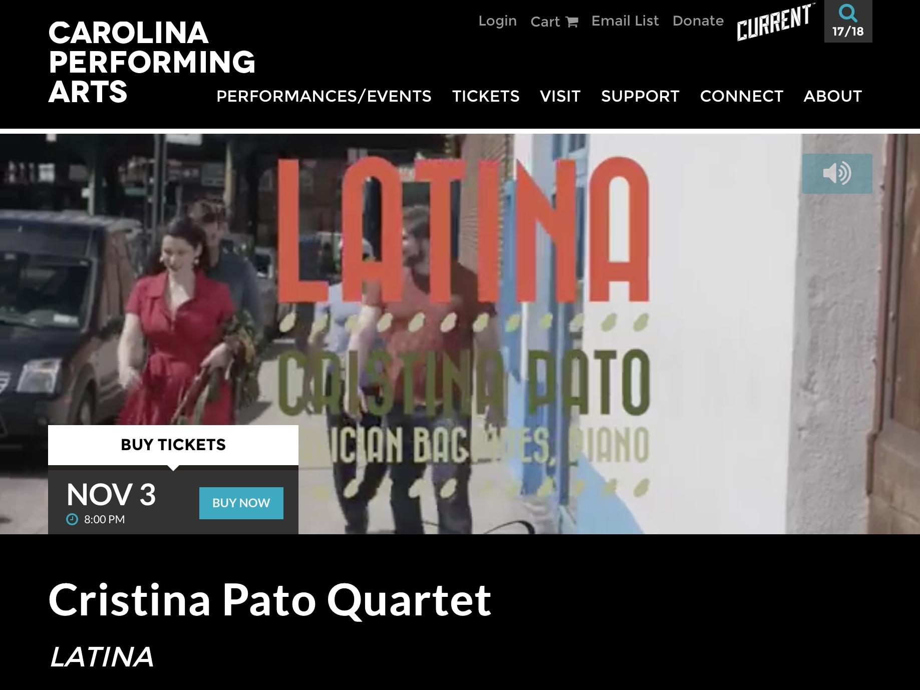 Carolina Performing Arts Concert
