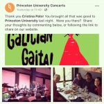 Gracias princetonuniversityconcerts and thank you longwoodgardens for two nights ofhellip