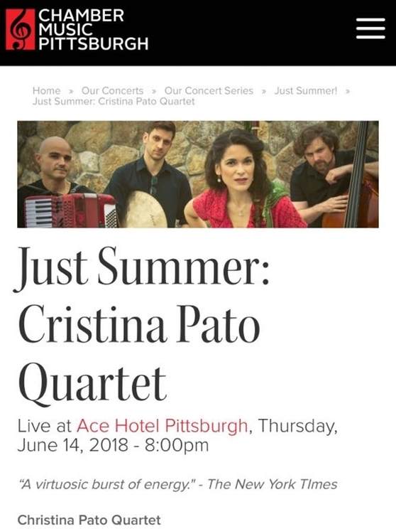 Cristina Pato Quartet Concert in Pittsburgh