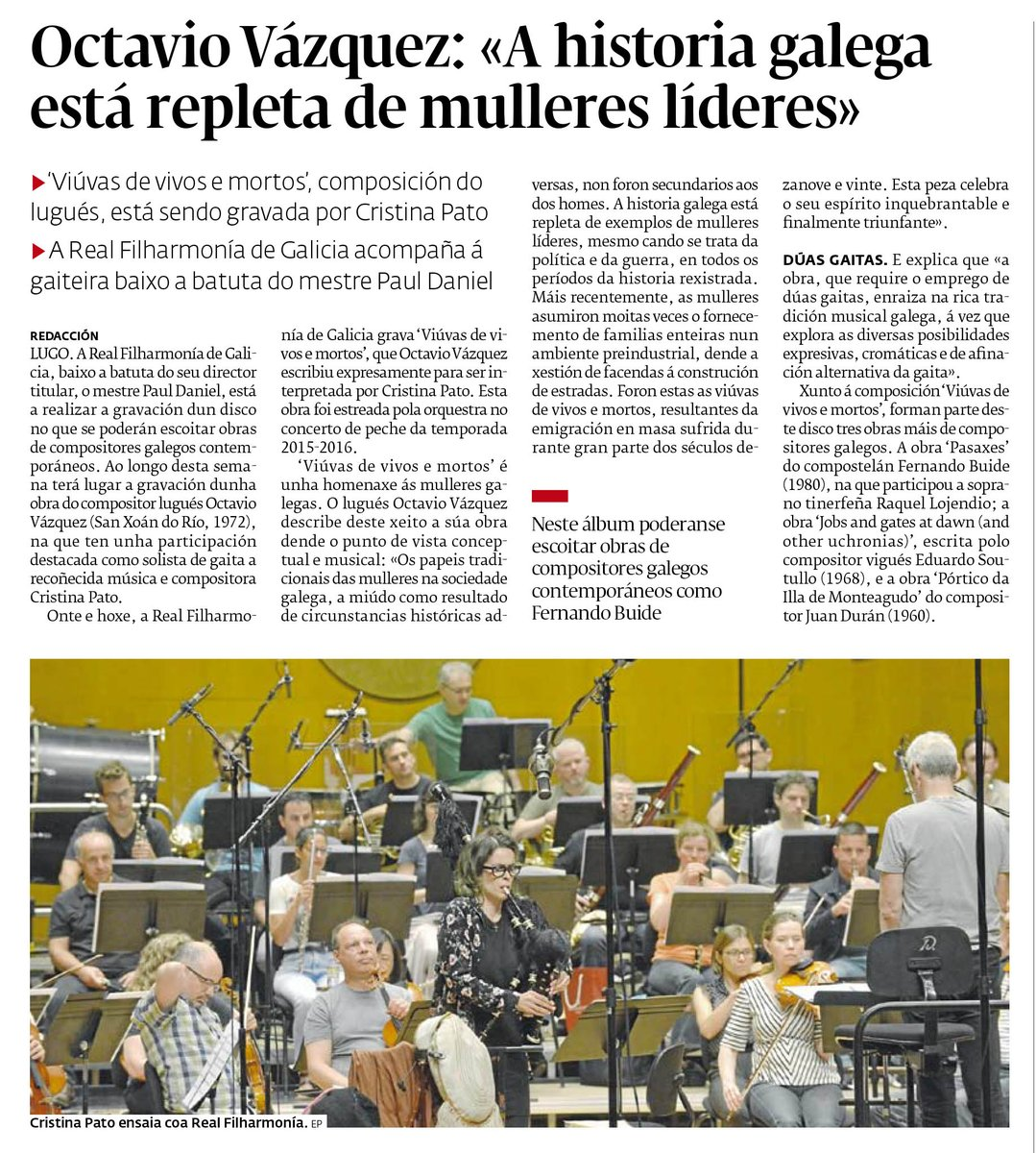Cristina Pato - Real Filharmonía de Galicia