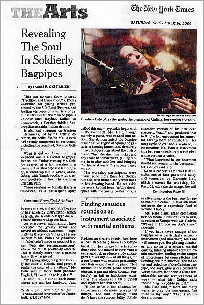 The New York Times: The Arts - September 16, 2006